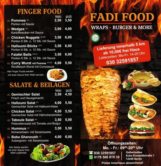 flyer fadi food vorderseite